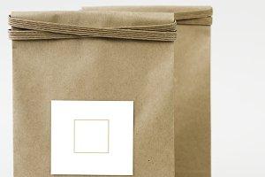 Paper bag mockup&#