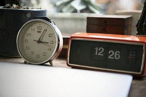 Clock kept on table