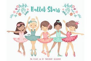 Ballerina Ballet Dancers Clipart