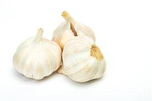Garlics isolated on white background