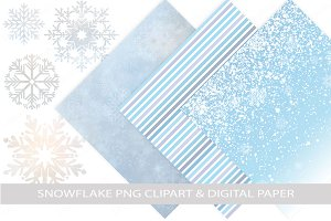 Snowflakes & Digital Papers