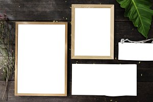 Design space photo with frame (PNG)