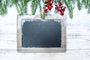 Christmas decoration chalkboard