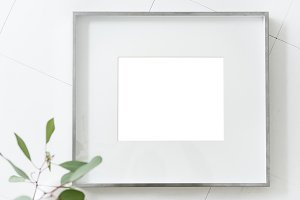 Design space on photo frame (PNG)