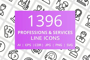 1396 Profession & Services Line Icon