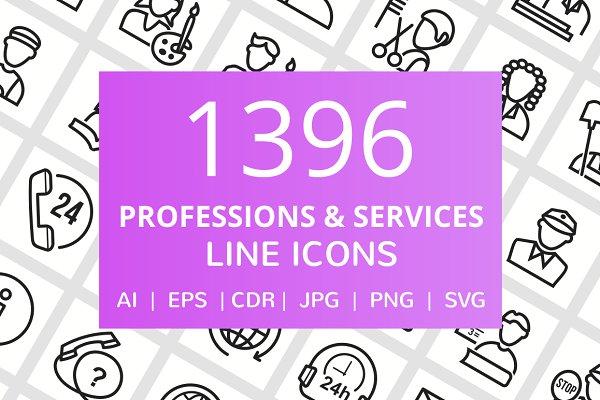 1396 Profession & Services Line Ico…