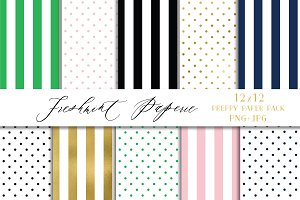 Preppy Digital Paper Pack