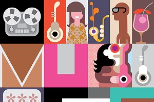 The Music vector illustration