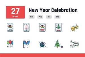 New Year Celebration Iconpack