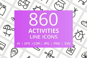 860 Activities Line Icons