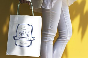 Design space on a shopping bag (PSD)