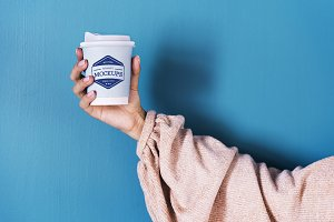 Design space on a coffee cup (PSD)