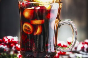 Traditional Christmas mulled wine