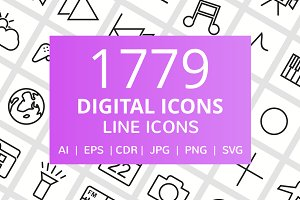 1779 Digital Line Icons