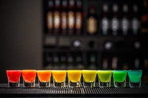 Rainbow color shots