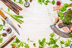 Healthy clean eating and cooking