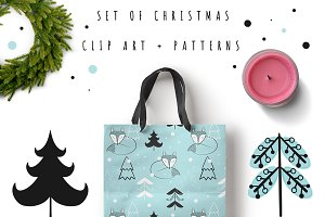 Christmas clip art + patterns