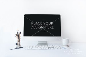 iMac mockup - PSD file
