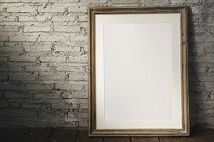 Photo frame mockup (PSD)
