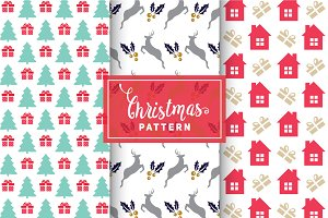 Christmas Vector Patterns #7