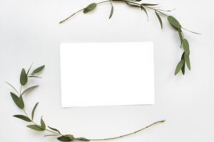 Mockup design space paper card (PNG)