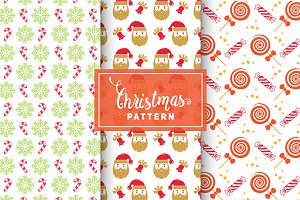 Christmas Vector Patterns #9