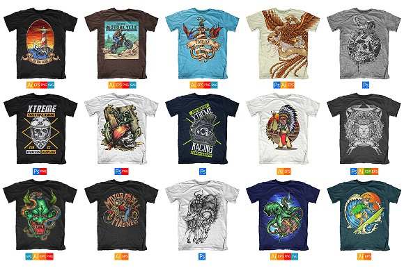 100 T-Shirt Designs ~ Illustrations ~ Creative Market 4b001068ad7