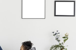 Photo  frames mockup (PNG)