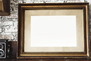 Photo frame on piano (PSD)