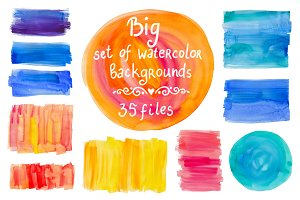 Big set of watercolor backgrounds #2