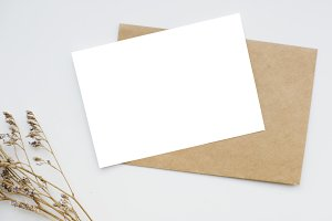 Greeting card mockup (PNG)