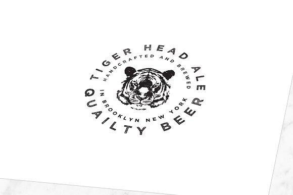 Rugged Tiger Head Logo Template Logo Templates Creative Market