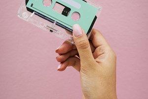 Holding design space cassette tape