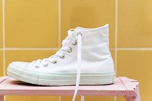 White high top sneaker