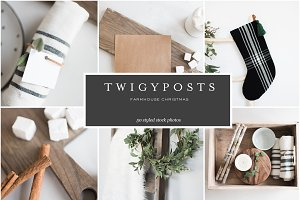 Farmhouse Christmas Stock Photos