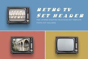 Retro PSD TV set header