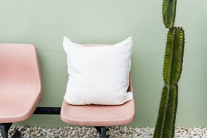 Design space on cusion pillow