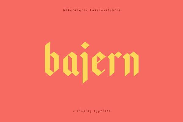 Blackletter Fonts: Hökis Bokstavsfabrik - Bajern — A modern fraktur
