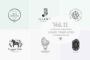 Feminine Premade Logo Bundle Vol. 11