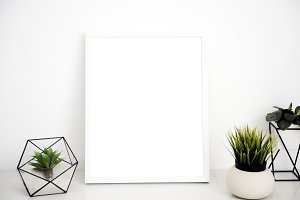 Picture frame mockup (PNG)