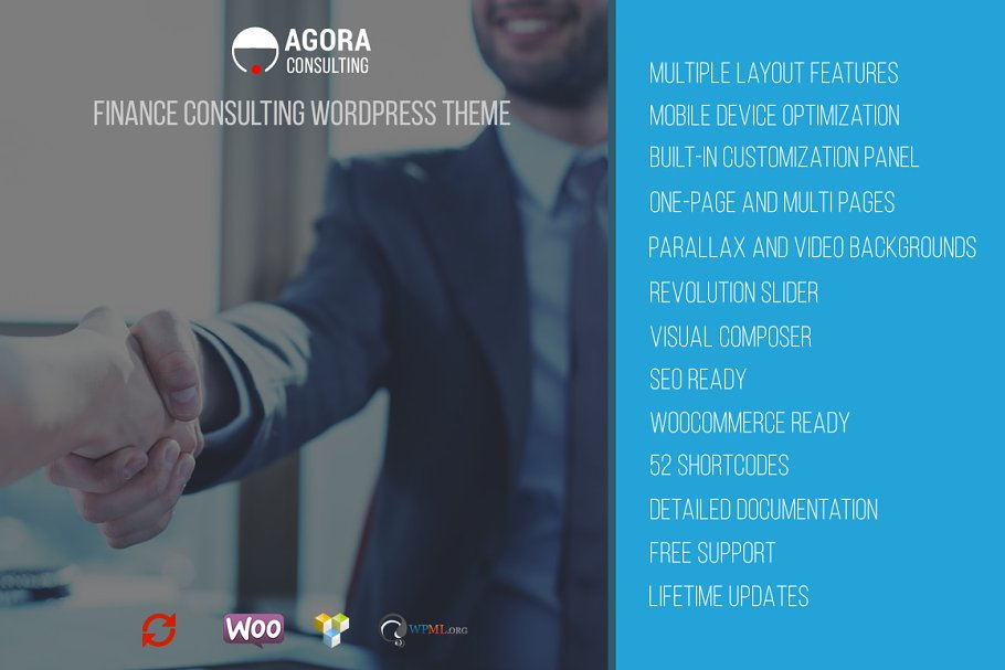 20+ Finance Consultant WordPress Themes and Templates 2019 [ Download Now ]
