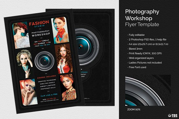 Workshop Flyer Templates Free Insssrenterprisesco - Photography brochure template free