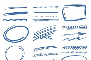 Sketch drawing scribble elements