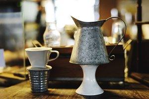 Ceramic cups display