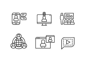 Online communication icons