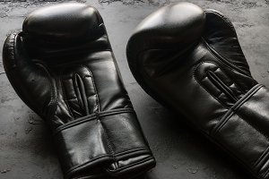 boxing gloves close-up