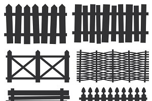Country wooden fences