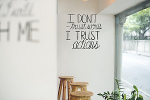 I don't trust words, I trust actions