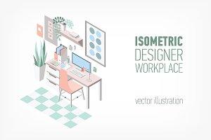 Creative modern workplace