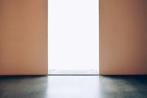 Light door in dark room